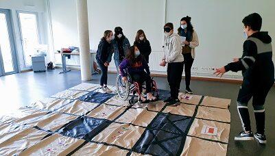 expérimenter le handicap, collaborer, s'entraider